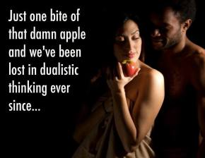 adam eve apple