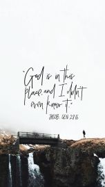 god is in this place